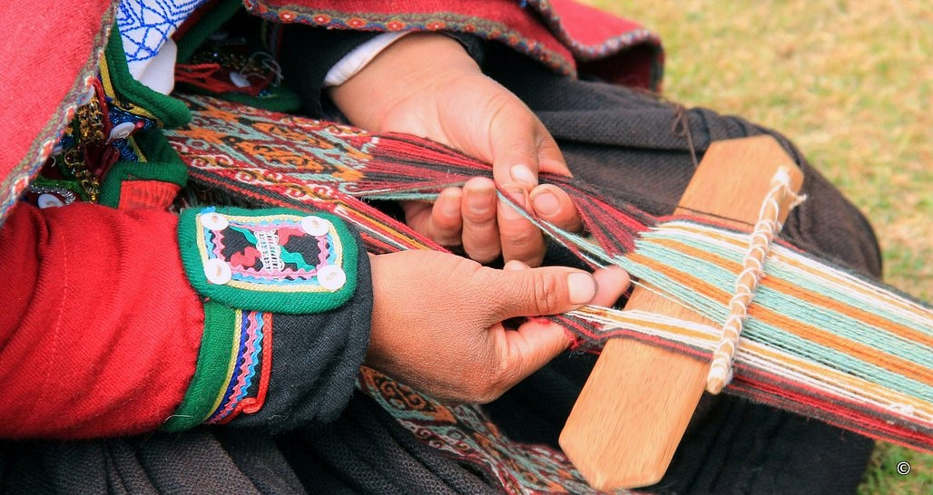 Hand weaving, Sacred Valley, Peru
