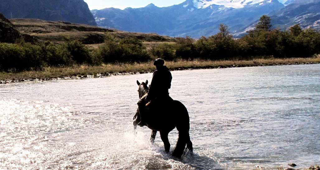 Riding country, Patagonia, Argentina