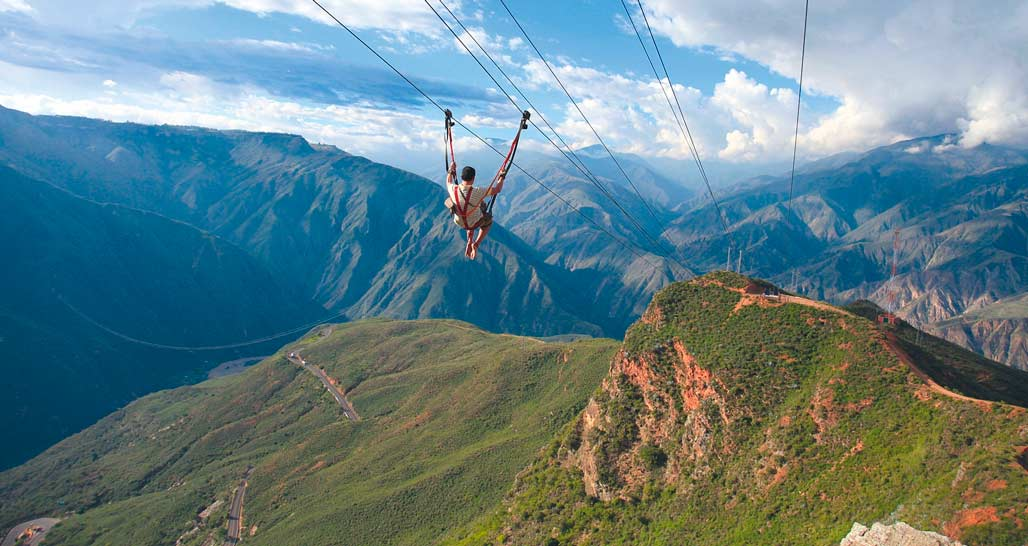Zip lining in Chicamocha Canyon (courtesy of Vice Ministry of Tourism, Colombia)