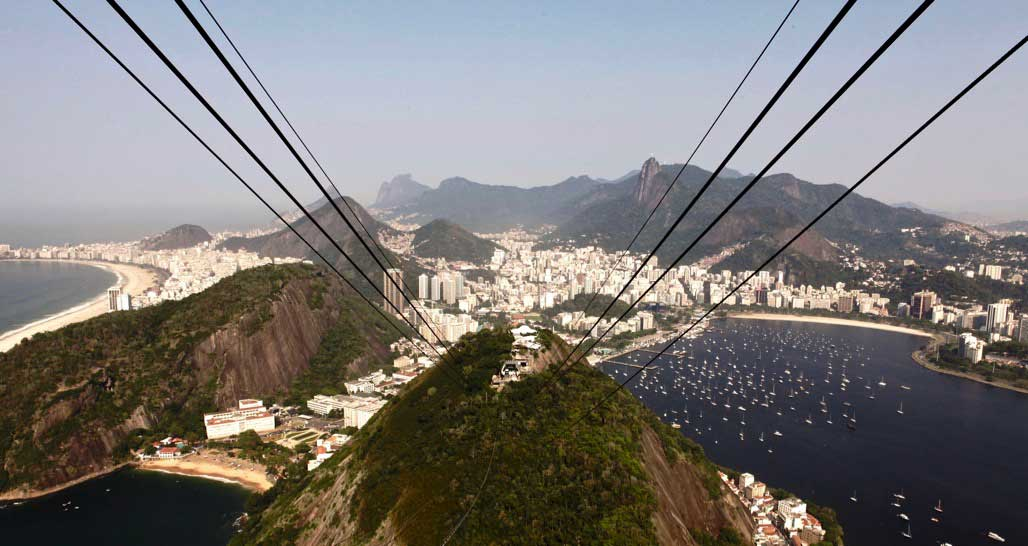 Cable car ride, Brazil