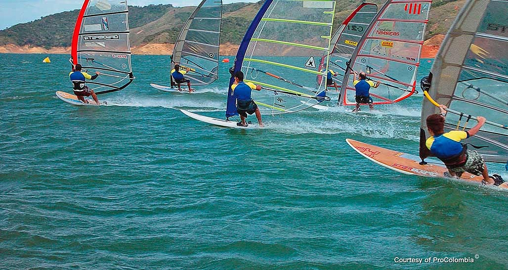 Windsurfing near Cali (courtesy of ProColombia)
