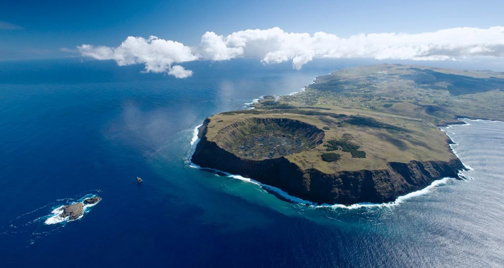 Rapa Nui Landscape from the Air