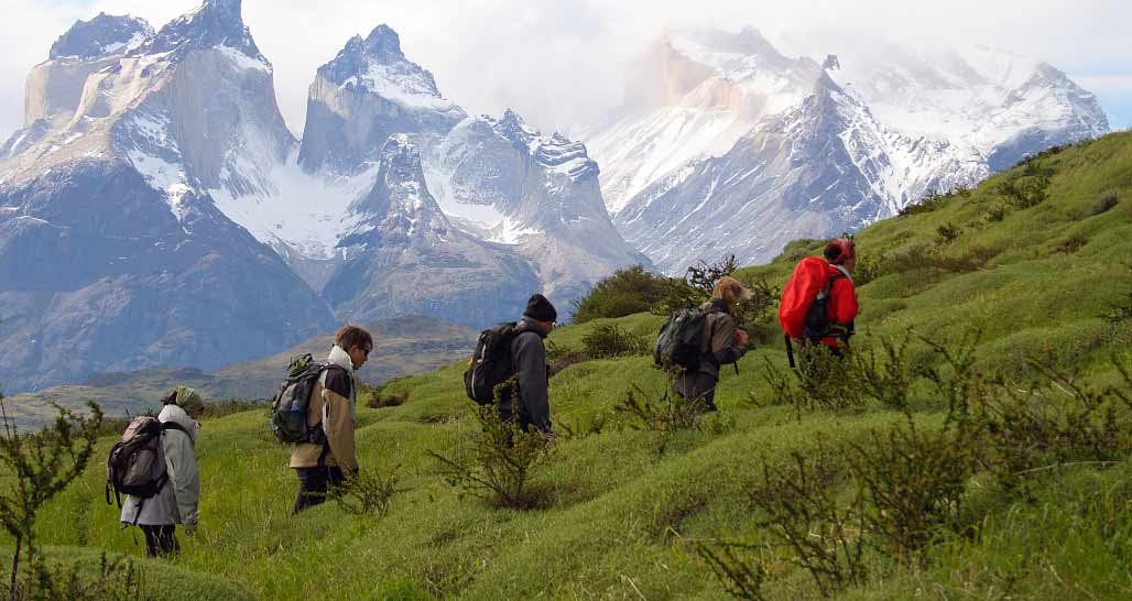 Walking at Los Cuernos del Paine