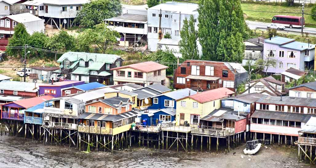 Palafitos on Chiloe Island