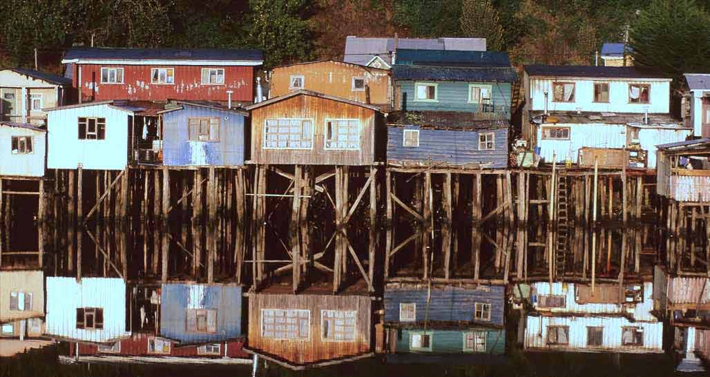 Chiloe Island - colourful palafitos