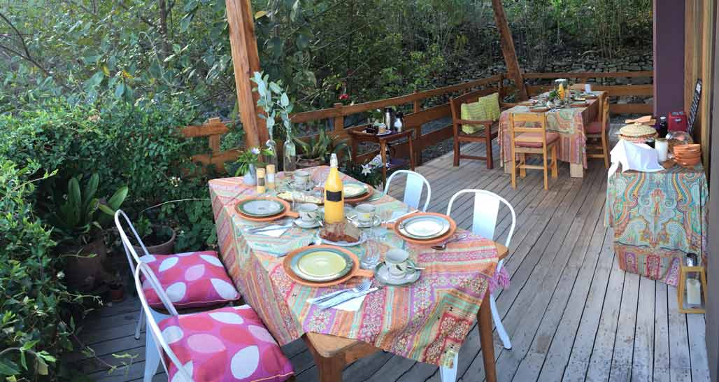 Dinner on the terrace, Gocta Natura