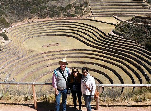 Moray Inca terraces near Machu Picchu