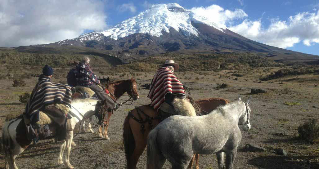 Horse riding near Cotopaxi - from Hacienda La Alegria