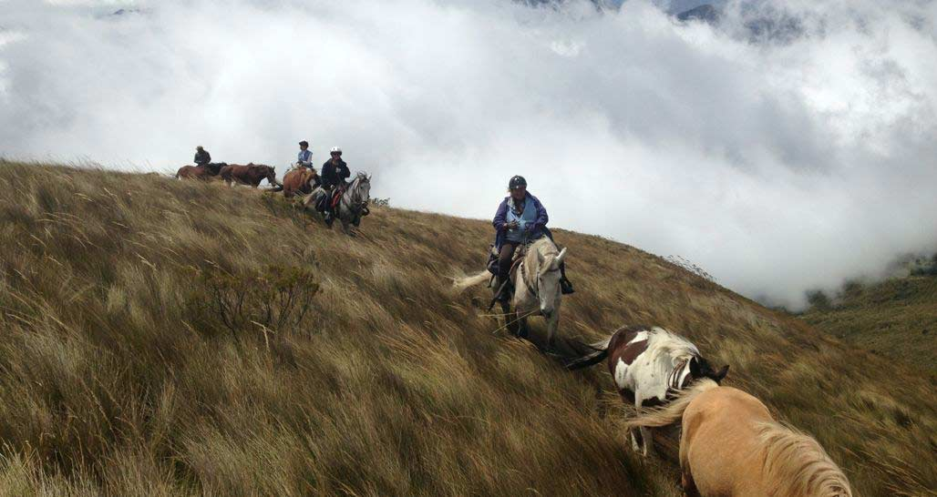 Horse riding above the clouds - from Hacienda La Alegria