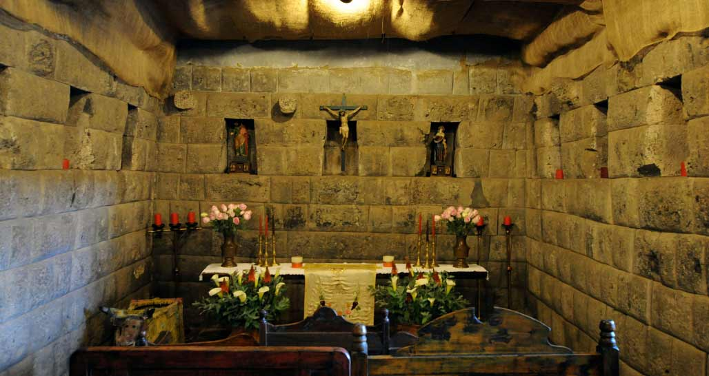 Hacienda San Agustin de Callo - Inca room - now the chapel