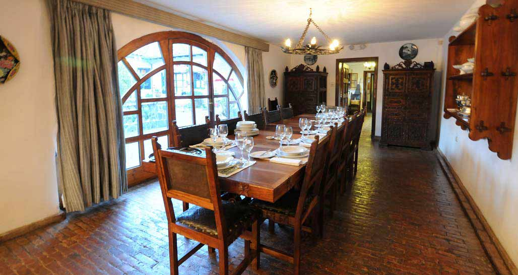 Hacienda Zuleta - the dining room