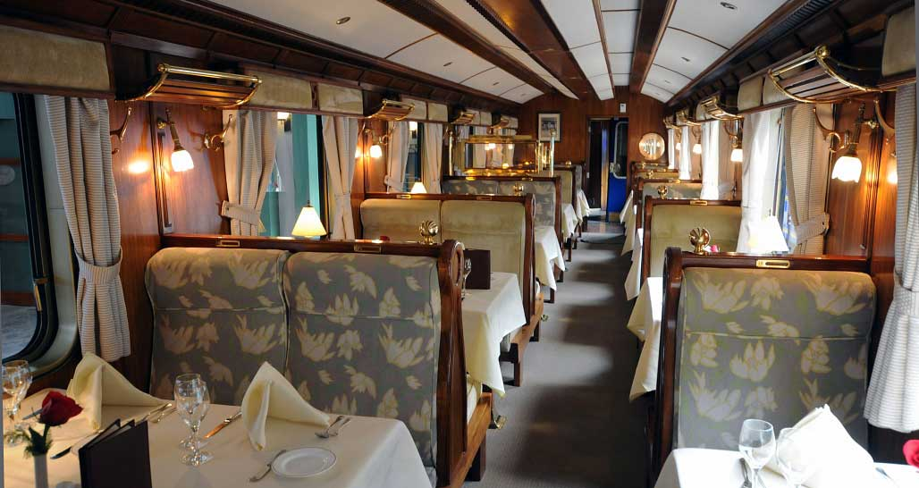 Hiram Bingham - interior of carriages