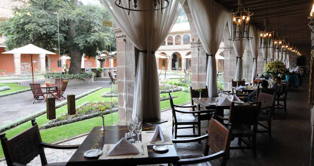 Hotel Monasterio - informal dining and main courtyard