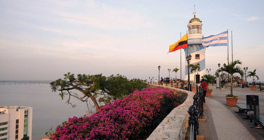 Guayaquil - lighthouse atop the Santa Ana hill