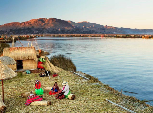 The Uros Islands, Lake Titicaca