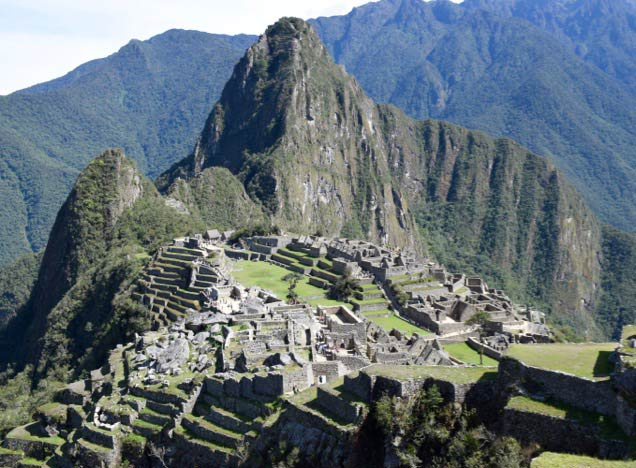 Machu Picchu and Huayna Picchu viewed from the Sun Gate