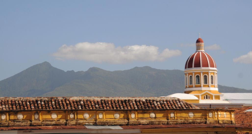 Mombacho Volcano Overlooking Granada Cathedral, Nicaragua