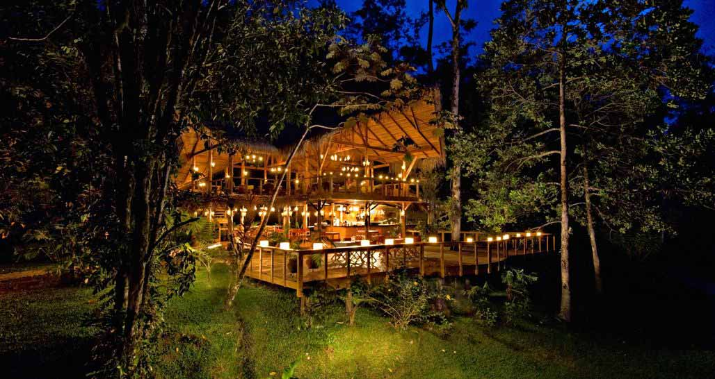 Pacuare Lodge at night