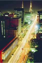 Paulista Avenue at night