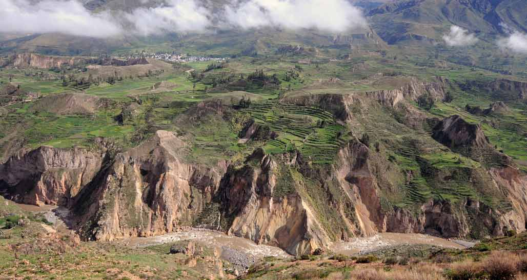 The dramatic Colca Valley, Peru