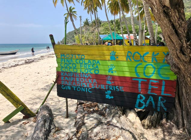 Bar on Providencia beach