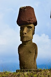 'Pukao' Hats were placed atop the moai