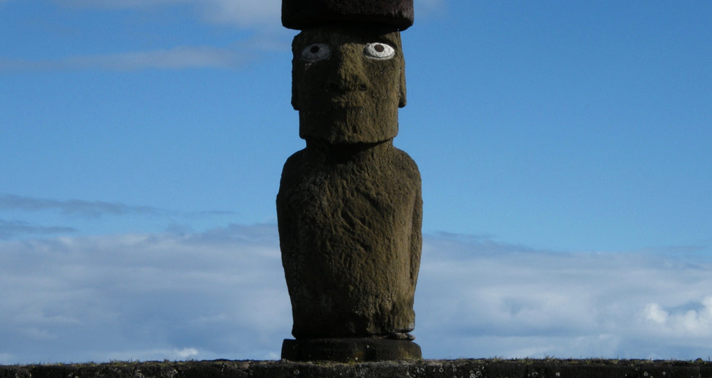Ahu Ko Te Riku at Tahai, Easter Island, Chile